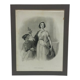 """Early 20th Century Antique """"The Laurel"""" B. Holl Mounted Engraving Print For Sale"""