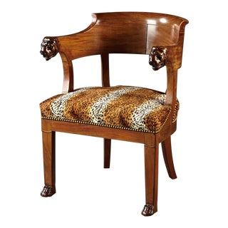 A French Mahogany Horseshoe Chair For Sale