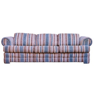 Mid-Century Boho Chic Striped Sofa For Sale