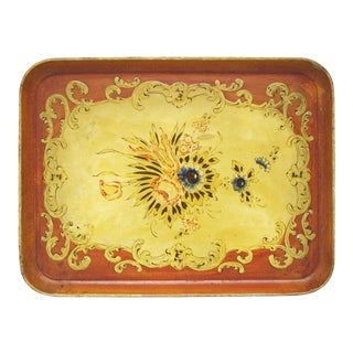 1940s Occupied Japan Papier Mache Tray For Sale