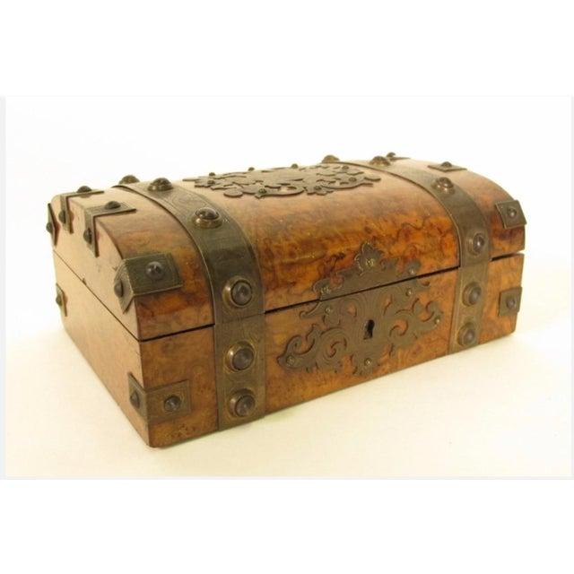 Decorative Metal-Mounted Burlwood Box - Image 7 of 7