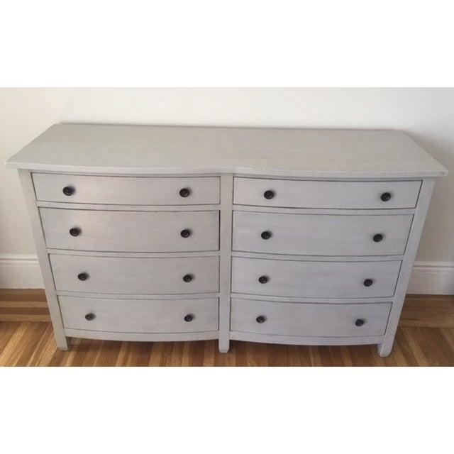 Shabby Chic Light Gray Dresser - Image 2 of 11