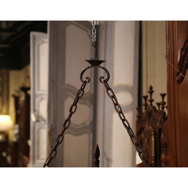 Early 20th Century French Forged Iron Ten-Light Chandelier For Sale - Image 10 of 11