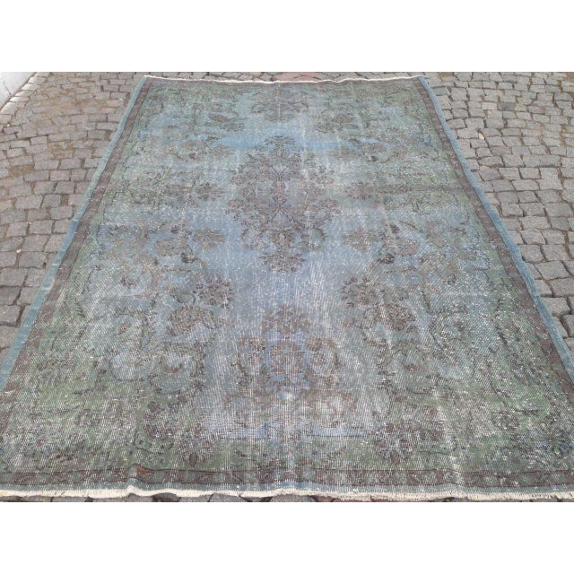 Turkish Overdyed Patchwork Rug - 6′4″ × 9′9″ - Image 5 of 6
