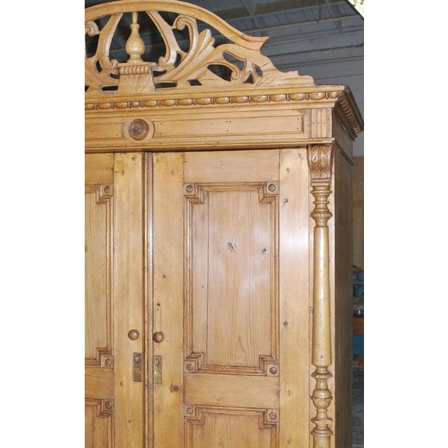 Traditional 19th Century Baltic Wood Armoire For Sale - Image 3 of 9