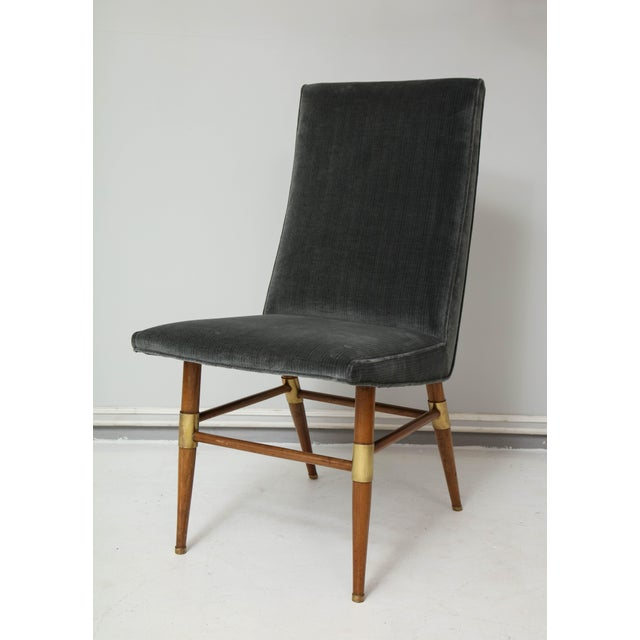 Mid-Century Modern Set of Six Italian Mid-Century Modern Dining Chairs, Recently Upholstered For Sale - Image 3 of 11