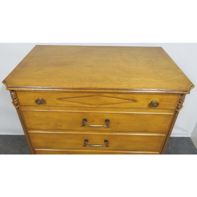 Italian Style Carved 7-Drawer Tall Chest For Sale In Philadelphia - Image 6 of 11