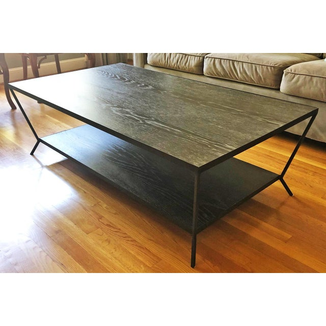 2010s Modern Oly Sutter Cocktail Table in Fumed Oak For Sale - Image 5 of 6