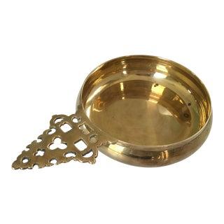 Vintage Mid-Century Solid Brass Porringer/Catchall For Sale