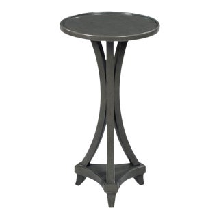Woodbridge Leslie Charcoal Gray Martini Table For Sale