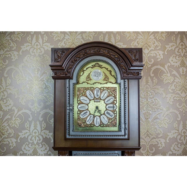 20th Century Tempus Fugit Grandfather Clock with a Chime For Sale - Image 6 of 13