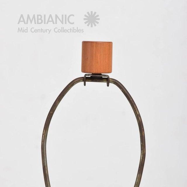 Contemporary Mid-Century Gordon Martz Ceramic Table Lamp For Sale - Image 3 of 6