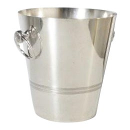 Stamped Silver Plated Ice Bucket, C. 1960 For Sale