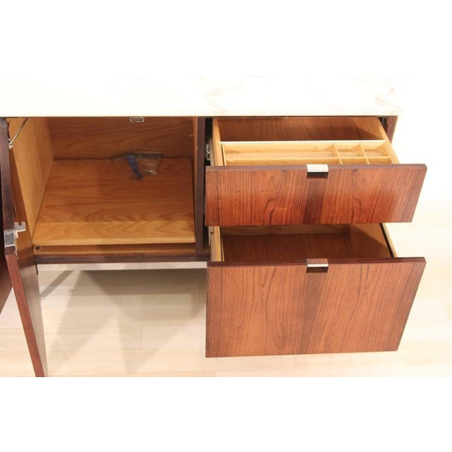 Knoll Rosewood Marble-Top Credenza - Image 5 of 9