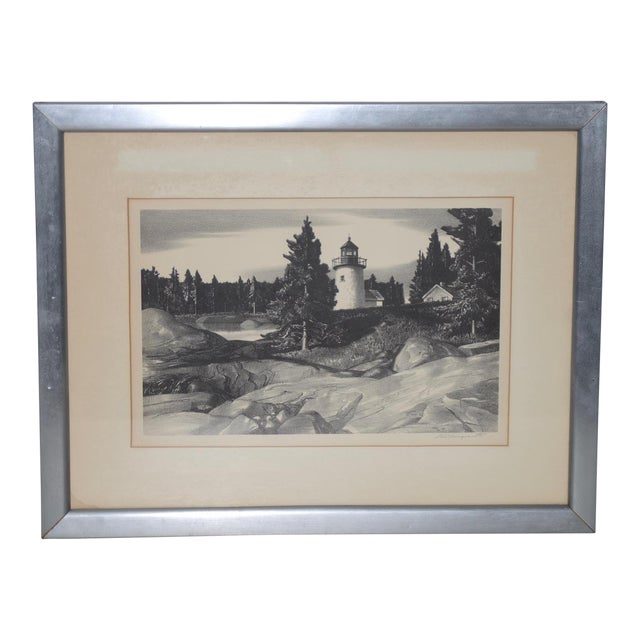 """Stow Wengenroth """"Inlet Light"""" Limited Edition Pencil Signed Lithograph C.1937 For Sale"""