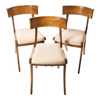 Sabre Leg Klismos Form Side Chairs - Set of 3 For Sale