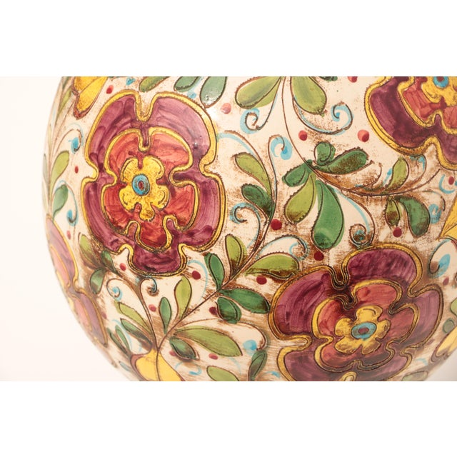 Monumental Italian Sgraffito Table Lamp - Image 3 of 7