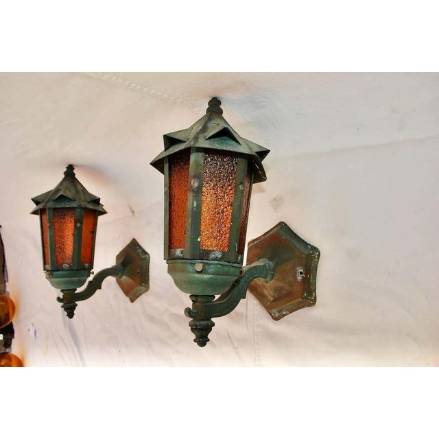 1920s Copper Outdoor Sconces - a Pair For Sale - Image 4 of 5