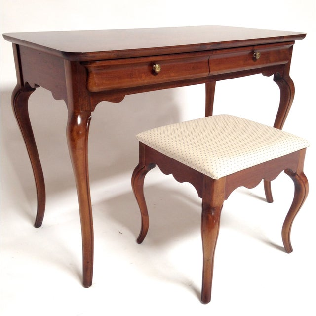 French Style Vanity Hall Table with Stool Set - Image 2 of 6