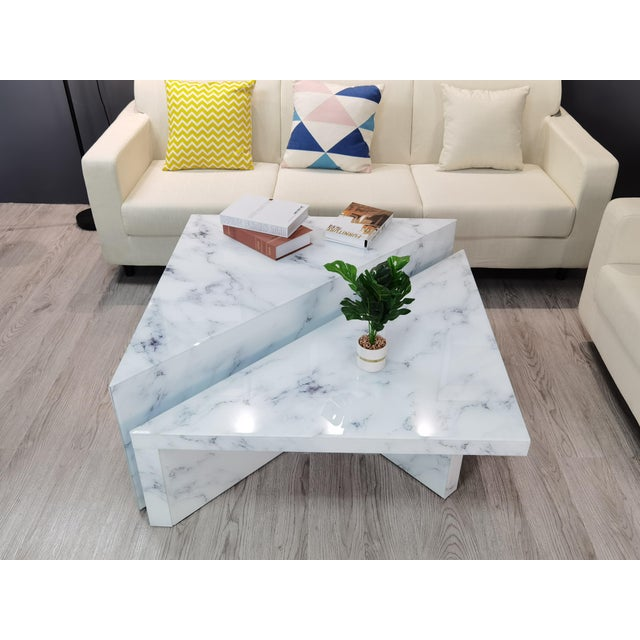 Grace Modern Coffee Table - a Pair For Sale - Image 4 of 8