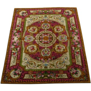 """1920's Antique English Chenille Rug-12'x15"""" For Sale"""