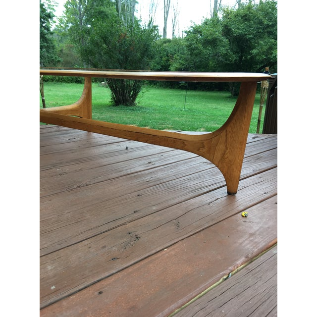 Mid Century Vintage Lane Kidney Shaped Coffee Table For Sale - Image 10 of 13
