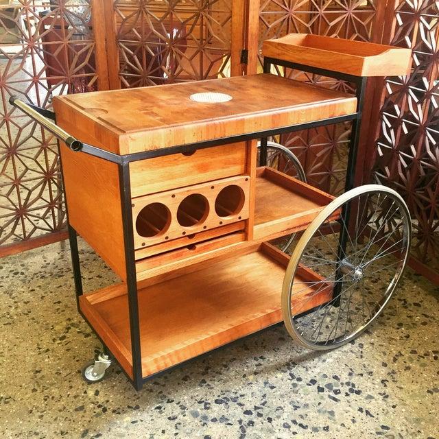 1960's Bill Saunders Umanoff Design Bar Cart For Sale - Image 10 of 10