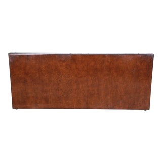 Milo Baughman for Thayer Coggin Burled Maple Queen Size Headboard For Sale