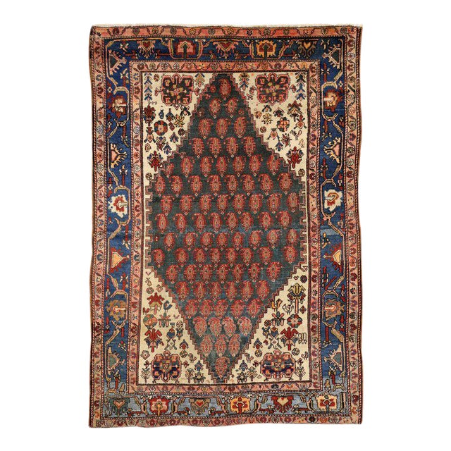 Antique Persian Malayer Rug with Modern Traditional Style For Sale