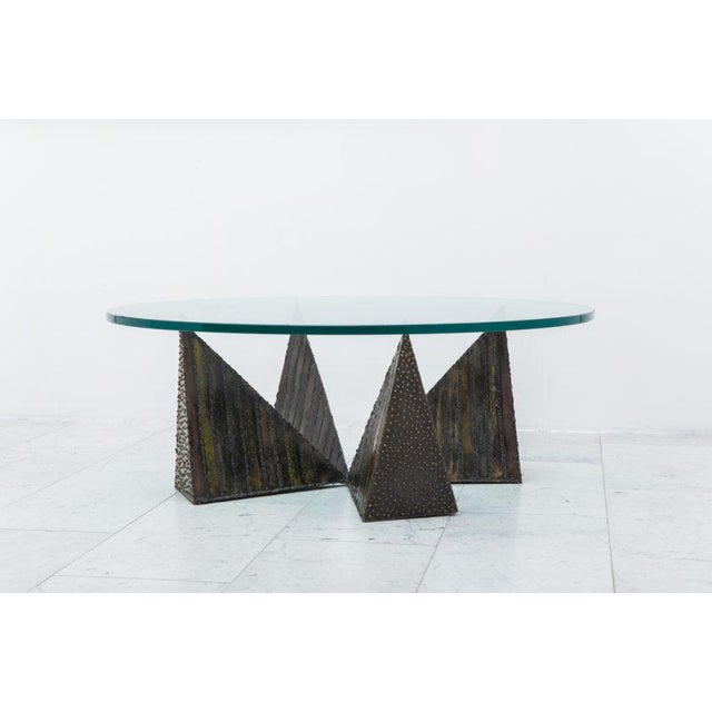 1970s Paul Evans, Welded Steel Coffee Table, USA, 1970s For Sale - Image 5 of 7