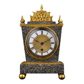 English Porphyry Clock by Ellicott For Sale