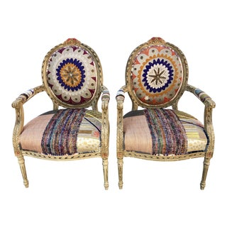 Early 21st Century Bokja Louis Style Bohemian Chairs - A Pair For Sale