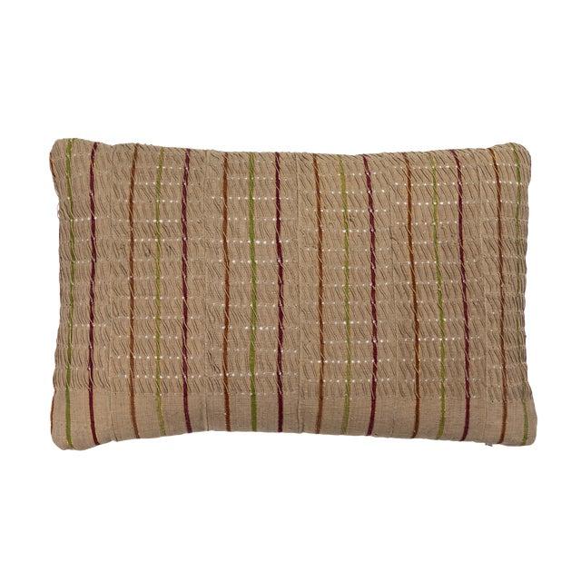 Vintage African Ashante Textile Pillow For Sale