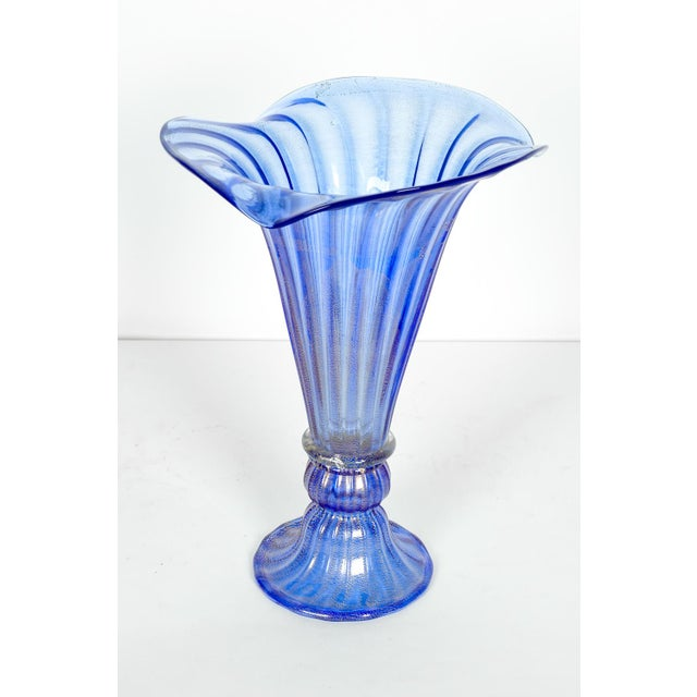 Mid 20th Century Very Tall Murano Glass Decorative Piece / Vase For Sale - Image 5 of 5
