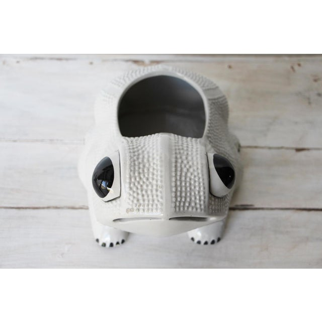 Safari 1970s Large Vintage Hobnail Frog Planter in the Style of Jean Roger For Sale - Image 3 of 13
