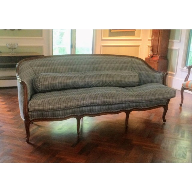 Vintage French Louis XV Style Wood Frame Sofa by Meyer Gunther Martini - Image 11 of 11
