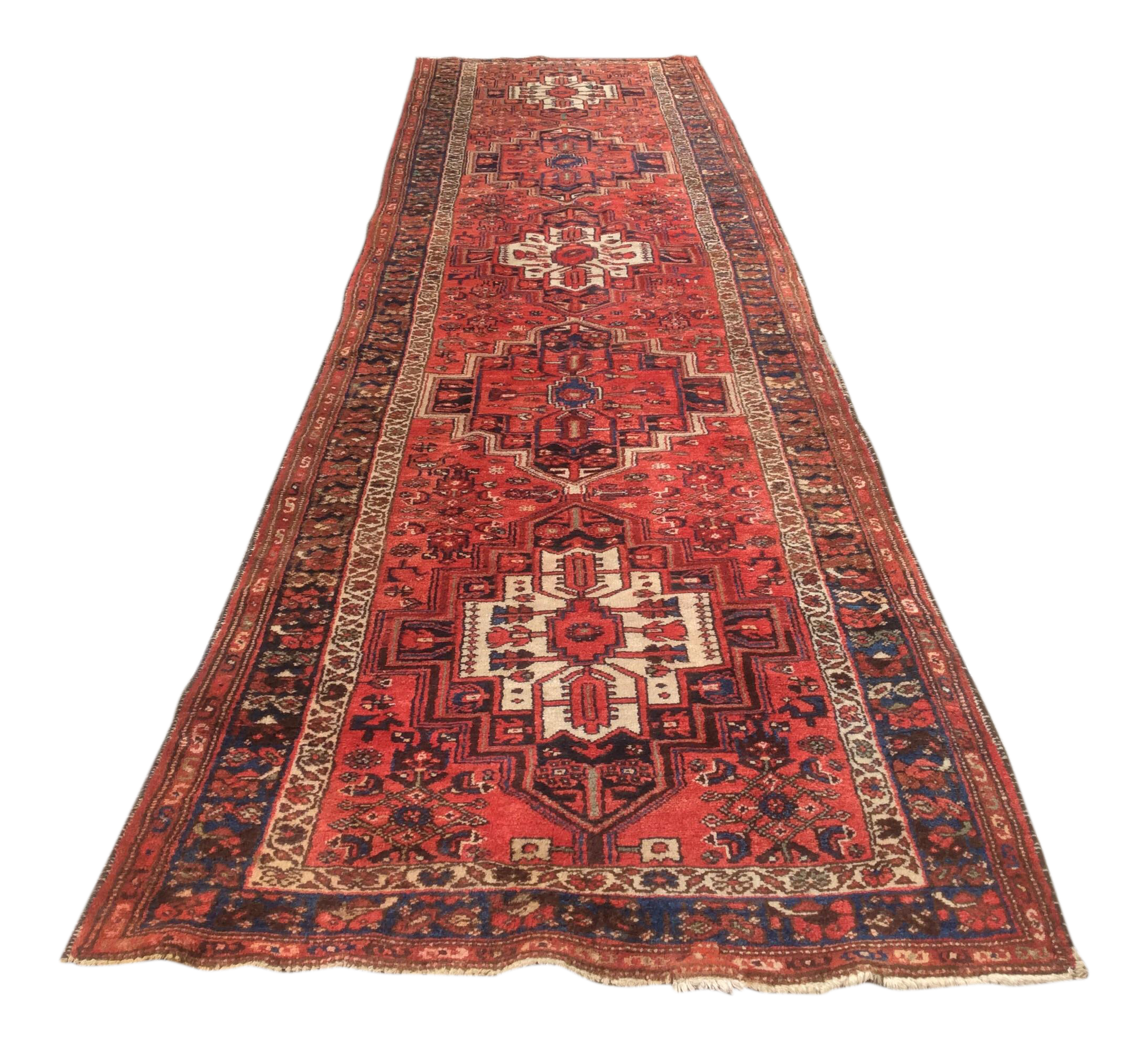 Antique Red Blue Persian Rug 3 6 13 3 Chairish