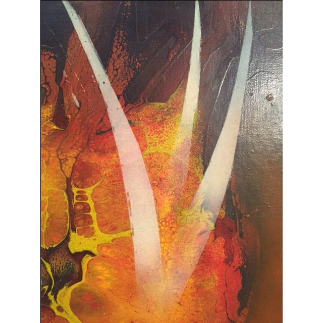 Mid-Century Abstract Painting For Sale - Image 4 of 5