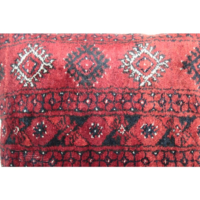 Boho Chic Carpet Pillow For Sale In Baltimore - Image 6 of 11