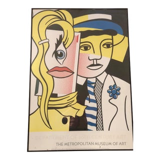 Roy Lichtenstein 'Stepping Out' Portrait Poster For Sale