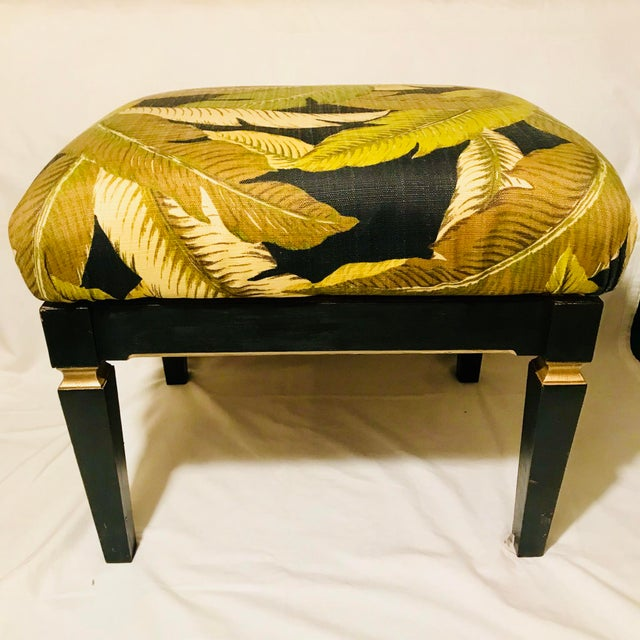 Contemporary Small Neoclassical Style Rectangular Bench For Sale - Image 3 of 5