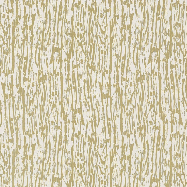Boho Chic Sample - Schumacher Tree Texture Wallpaper in Pale Gold For Sale - Image 3 of 3