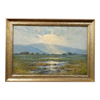 Manuel Valencia California Plein Air Landscape Oil Painting C.1900s For Sale