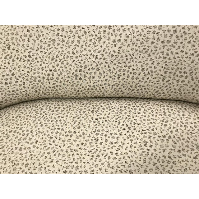 Antique Settee With Contemporary Upholstery For Sale - Image 10 of 12