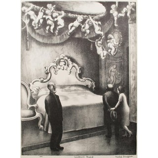 "1939 Mable Dwight, ""Museum Guard"" Original Period Lithograph For Sale"