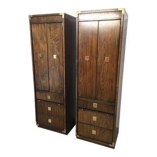 1970s Mid-Century Modern Thomasville Campaign Mystique Towers - a Pair For Sale