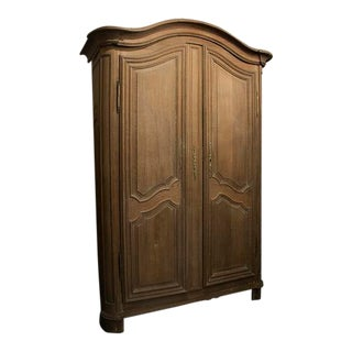 French 19th Century Carved Fruitwood Armoire For Sale