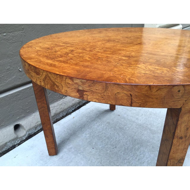 1940s Art Deco Burl Wood Table For Sale - Image 5 of 7