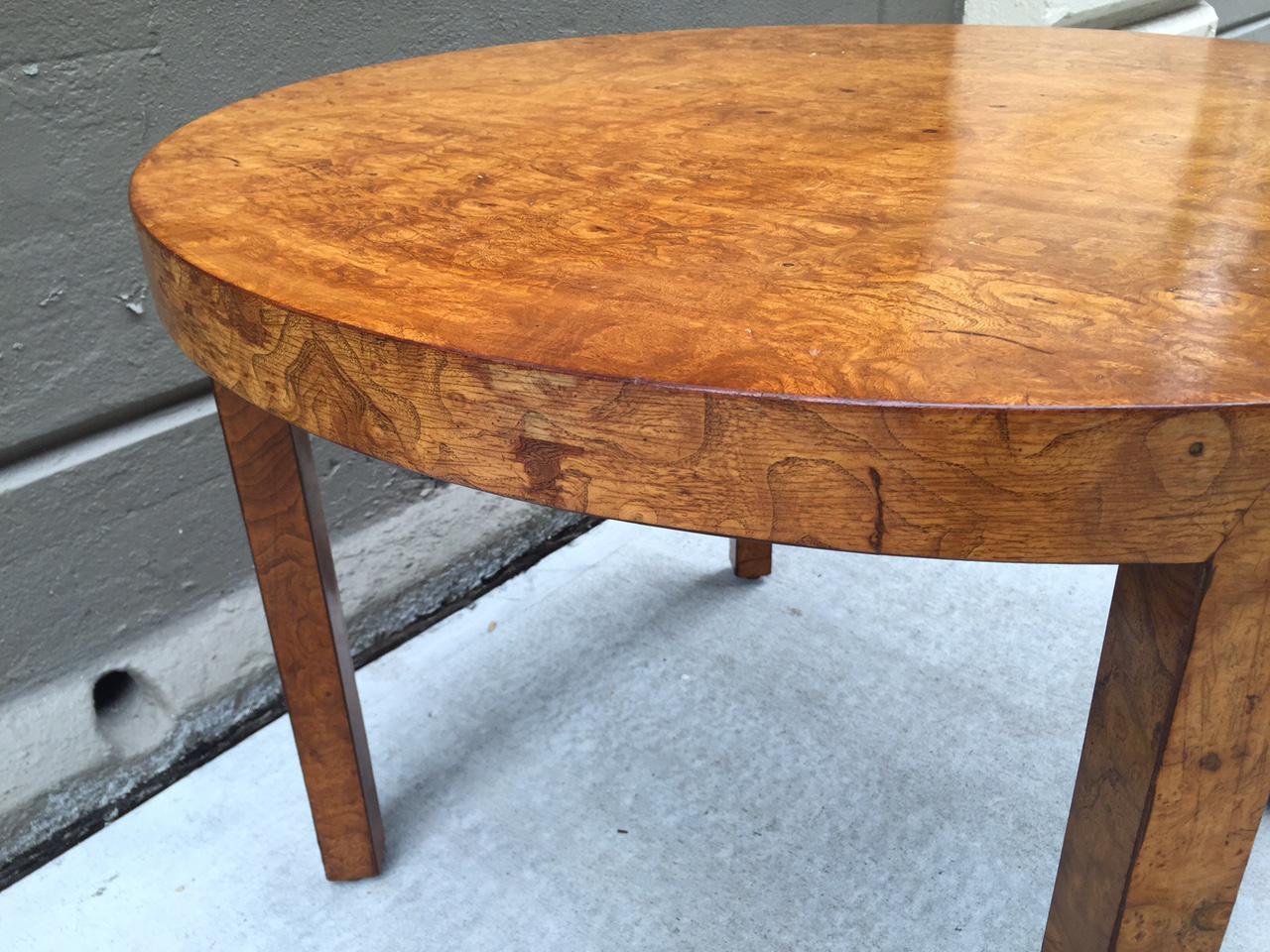 Ordinaire Art Deco Burl Wood Table   Image 5 Of 7