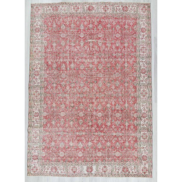Vintage Floral Turkish Rug - - Image 2 of 6